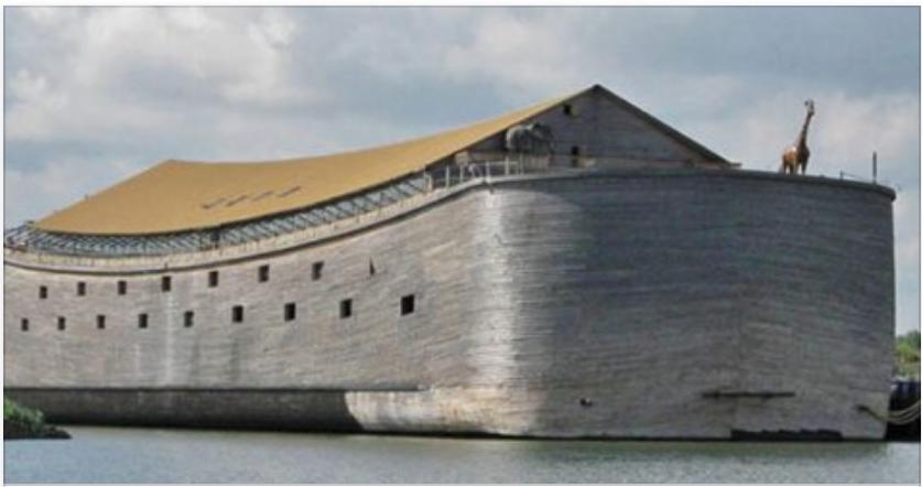 Multimillonario lleva 20 años construyendo una réplica del arca de Noé Pero al Mirala por dentro es