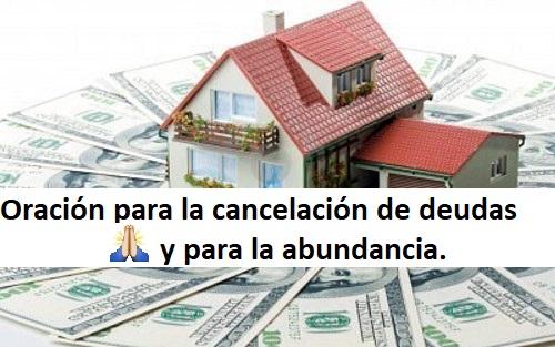 Oración para la cancelación de deudas y para la abundancia
