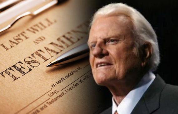 Defiendan el Evangelio a cualquier precio pide Billy Graham en testamento