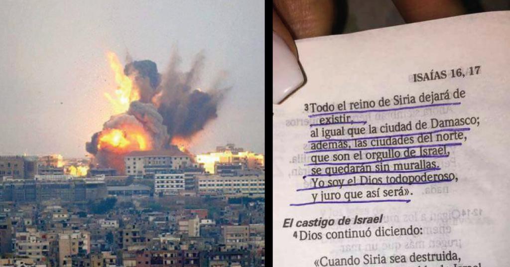 La Biblia y los ataques de Siria
