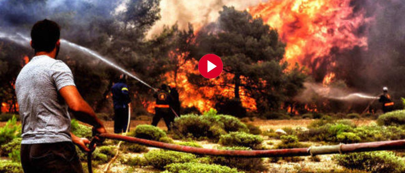 Así lo dice mucha gente en Atenas Grecia Estamos viviendo el apocalipsis por los incendios forestales