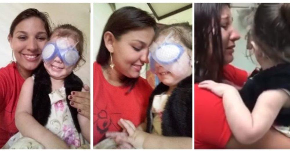 La reacción de una niña ciega al ver a su mamá por primera vez conmueve al mundo