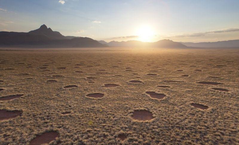 Anillos de hadas en Namibia (Suroeste de África)