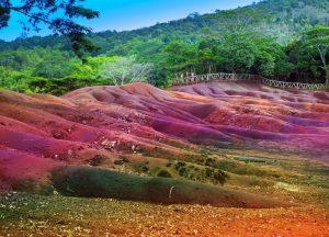 Arenas de colores en Chamarel