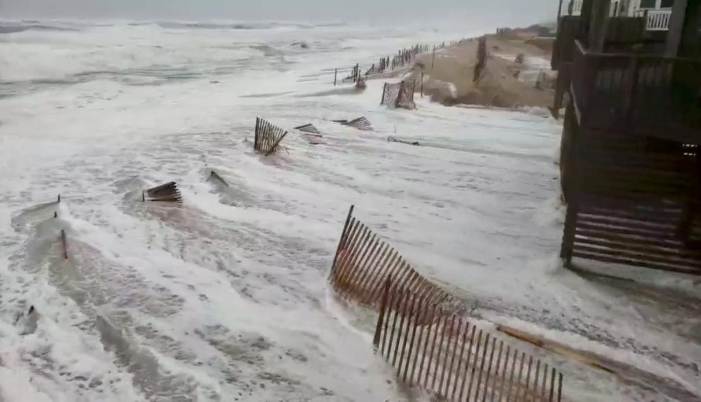 Así se vivió la llegada del huracán Florence a Carolina del Norte