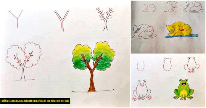 Enséñale a tus hijos a dibujar con la ayuda de los números y las letras