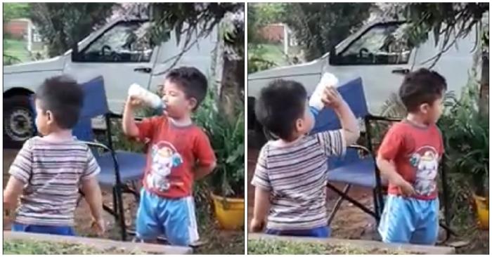 Estos adorables pequeños comparten su biberón con toda la ternura del mundo