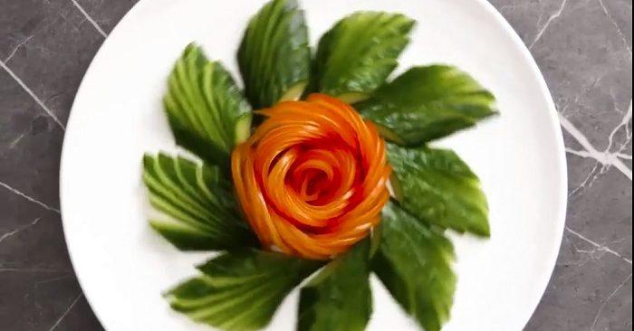 El fantástico arte de la decoración con frutas y verduras