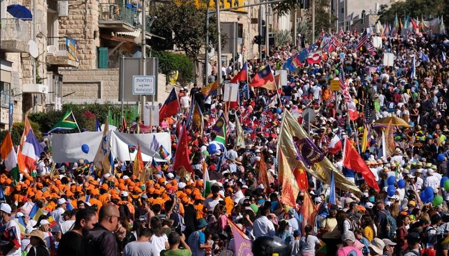 miles evangélicos de todo el mundo marcharon en Jerusalén en apoyo a Israel
