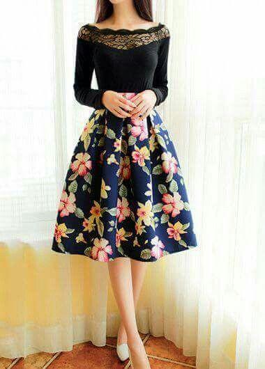 faldas para vestir bien y para ir a la iglesia