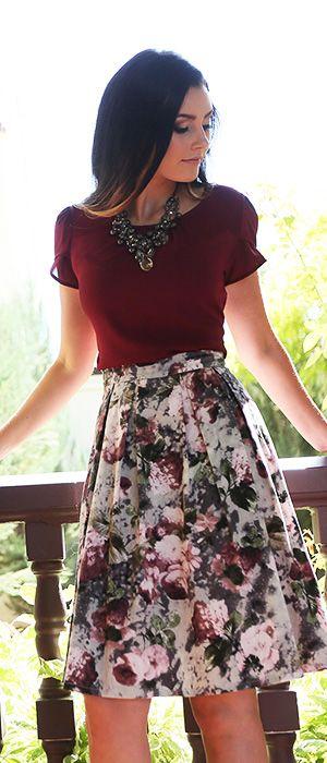hermosa faldas a la moda para vestir bien
