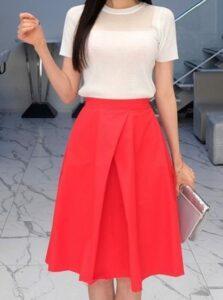 hermosas faldas para ir a la iglesia para ocaciones de fiestas