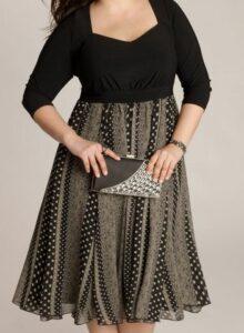 hermosa vestido para mujeres gordita