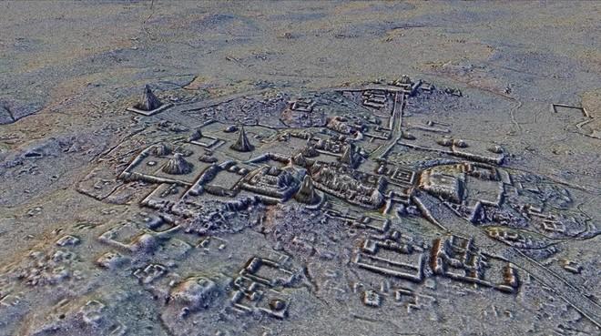 ciudad maya desde el mapa