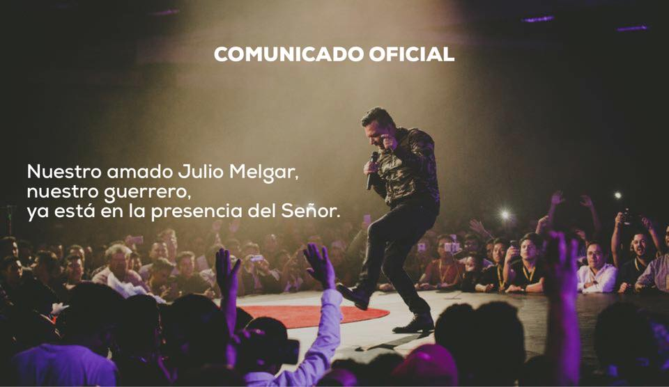 Comunidado oficial Julio Melgar