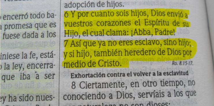 Galatas 4: 6-7 Jesús te ama