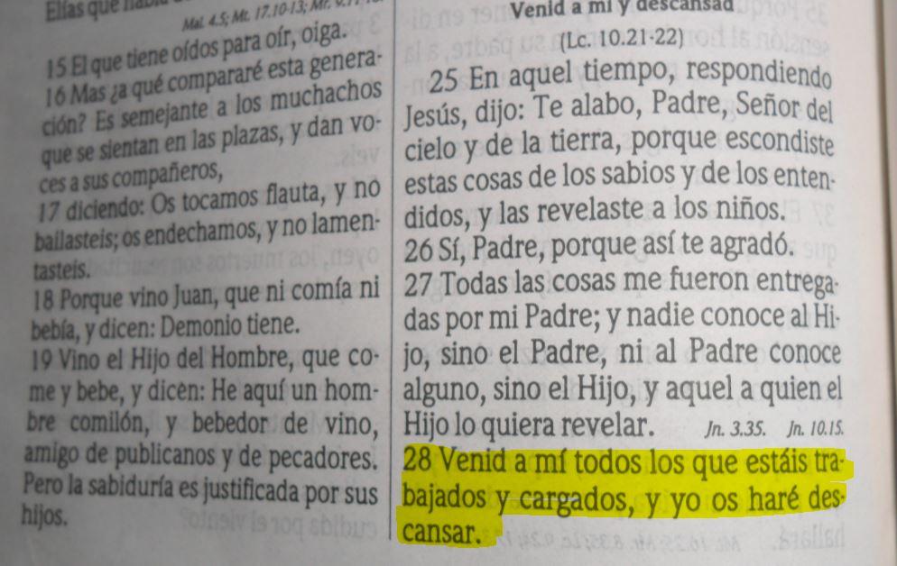 Mateo 11: 28