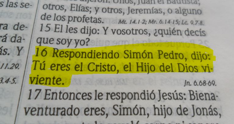 Mateo 16 -16