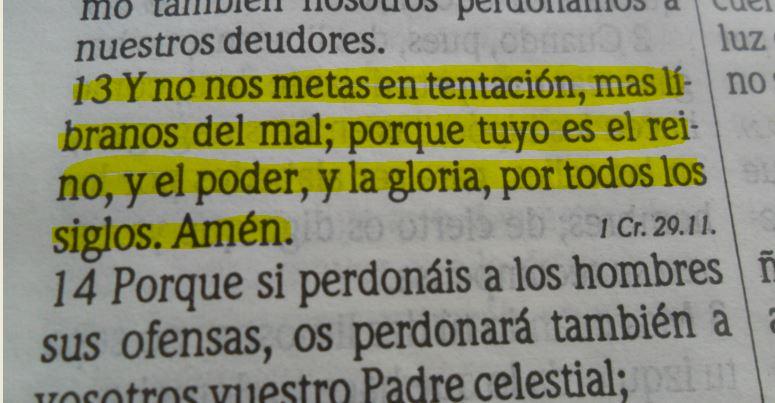Mateo 6:13