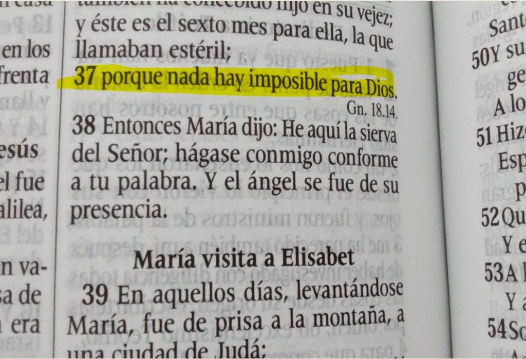 Lucas 1: 37