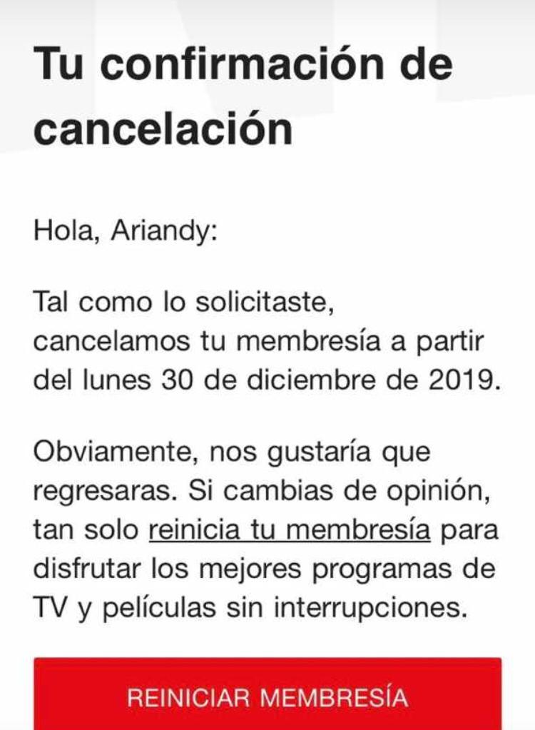 cancelar suscripcion de netflix