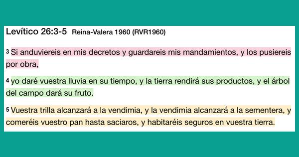 Levitico 26 - 3 -5