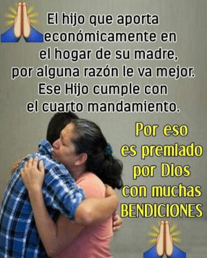 El hijo que aporta económicamente al hogar de su madre, por alguna razón le va mejor y Dios lo premia con muchas más bendiciones