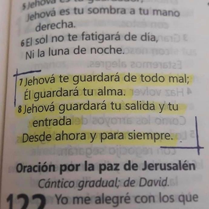 Salmos 121 Jehová te guardará salmos 121:7-8 explicación