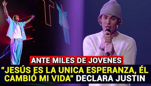 Jesús es la única esperanza, Él cambio mi vida, dice Justin Bieber