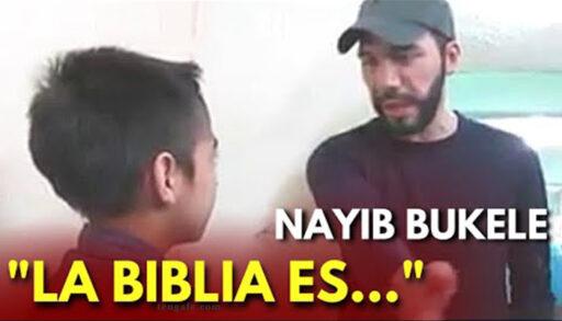 Nayib Bukele responde a niño sobre permitir la Biblia en Escuela